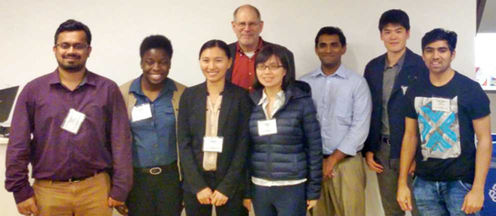 IIT APICS Student Chapter Team at Chicago Case Competition, October 2015, with Rich Gendon (back row, left), Managing Director, Center for Professional Management