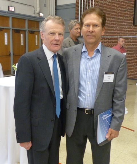 Illinois State Rep., Michael Madigan with Dan Tomal, Adjunct Faculty, IIT Industrial Technology and Management Program