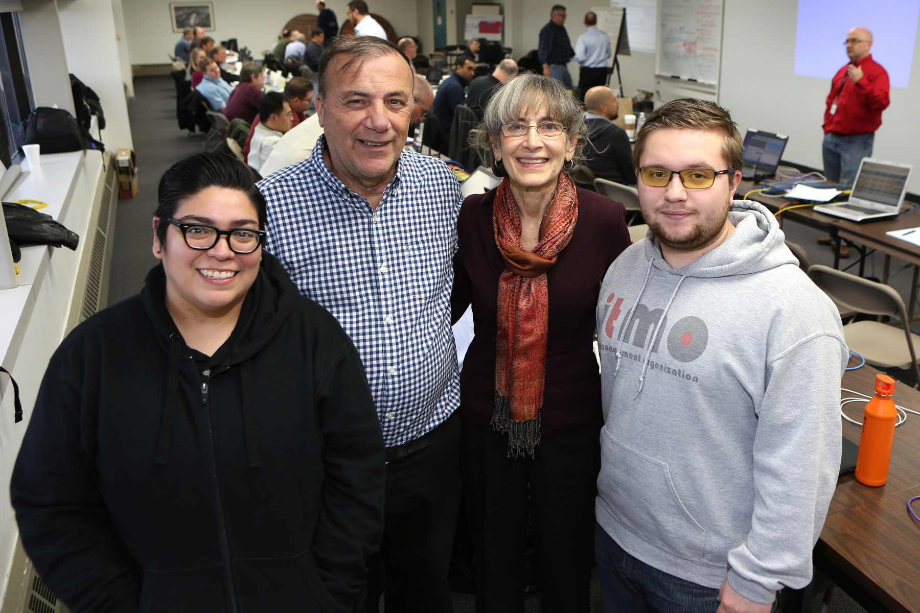 Picture of Carol Davids with Illinois Tech Student Support Team and Mentors