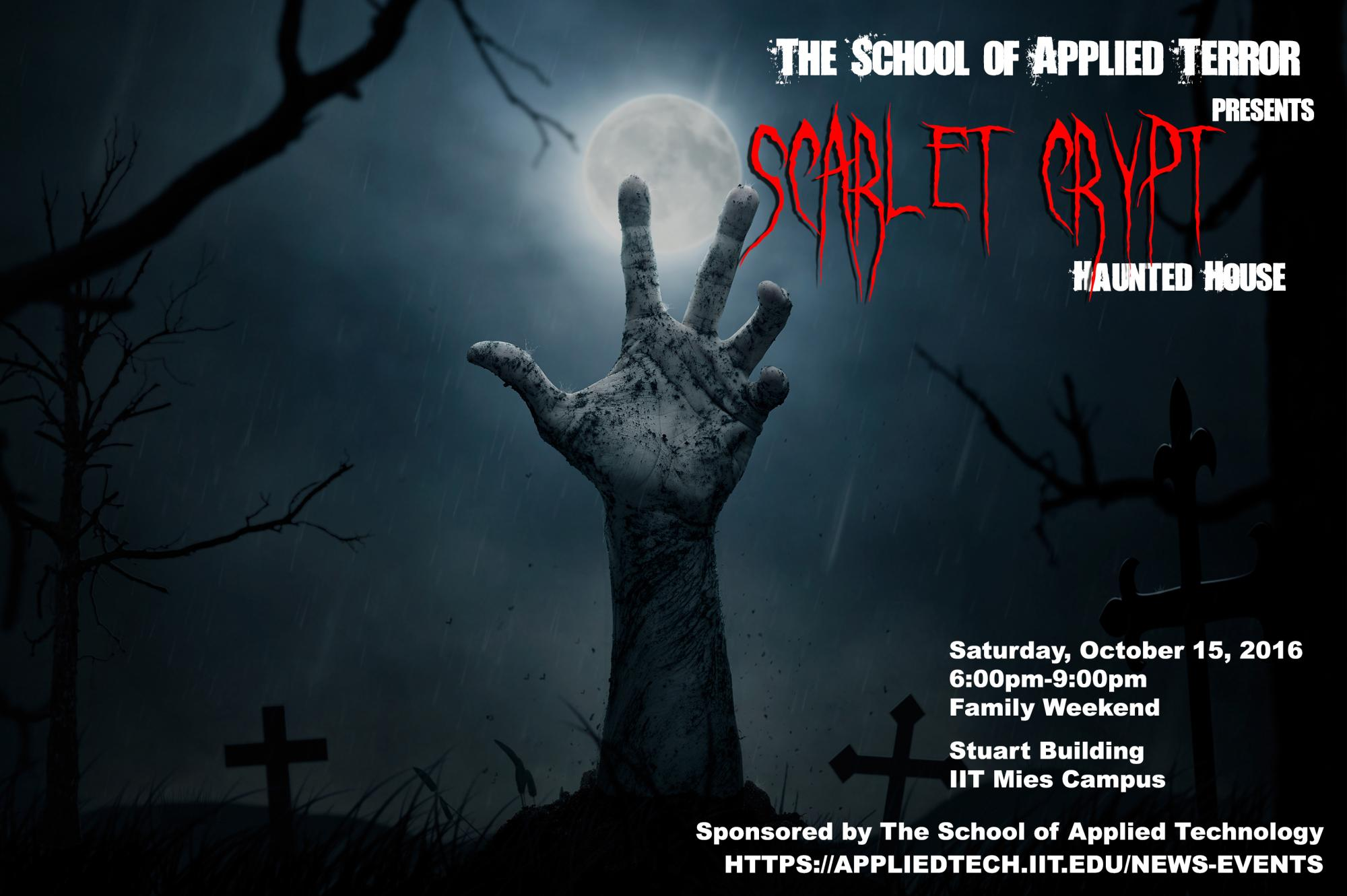 Scarlet Crypt Event Poster