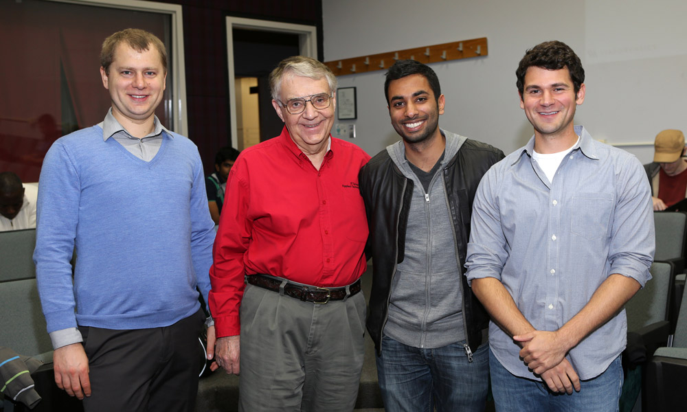 Pictures of Cyber Forensics and Security Students with Bill Lidisnky