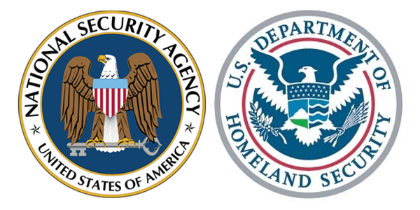 National Security Agency (NSA) and U.S. Department of Homeland Security (DHS) Logos